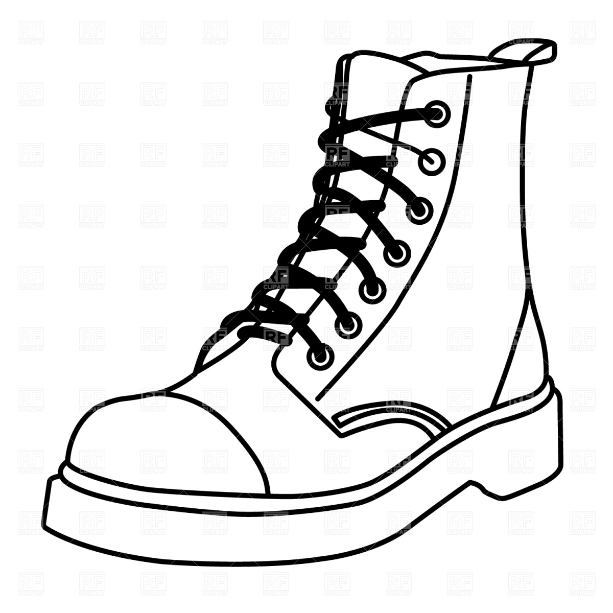 Drawn boots army Vector illustration Army Clipart Combat+boots+clipart