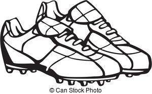 Football clipart football boot #9