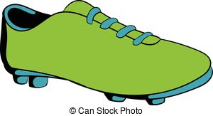 Football clipart football boot #6