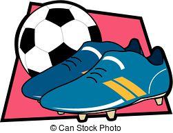 Football clipart football boot #13