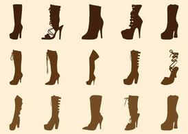Drawn boots high heel Boots Clipart me High Vector