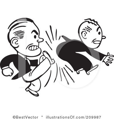 Anger clipart kicked out Out kick Kicked Of