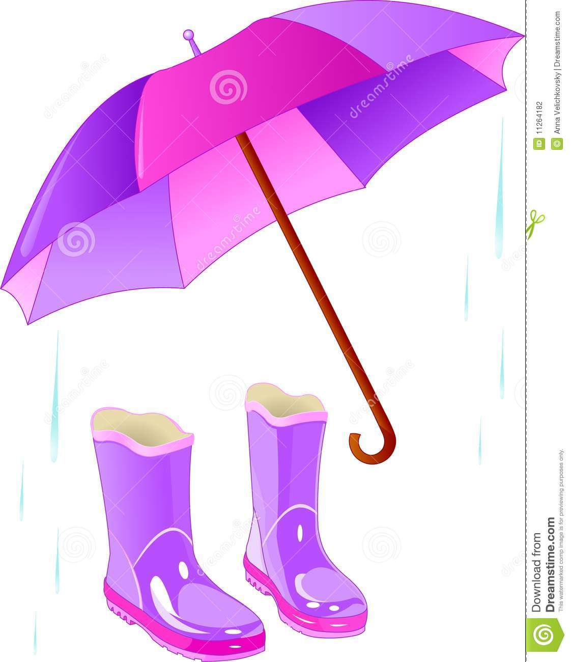Boots clipart farmer We Umbrella And wear Stock