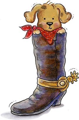 Cowboy clipart dog Doggy on art art Pinterest