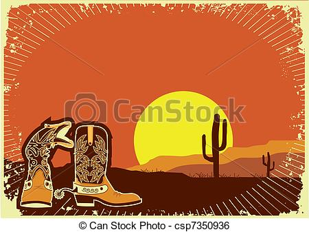 Background clipart cowboy Background Clip background of Vector