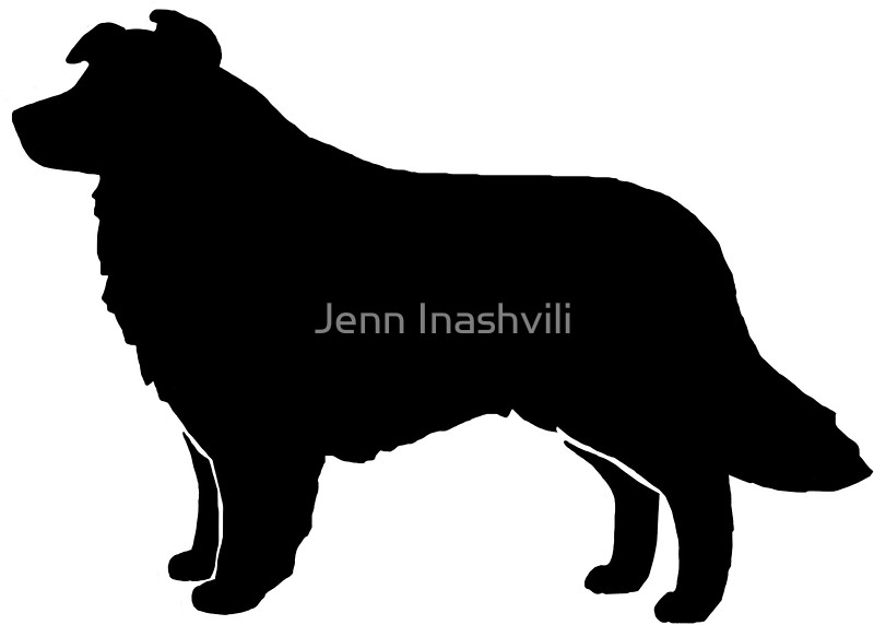 Border Collie clipart silhouette Collie Stickers by Redbubble Inashvili