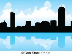Boston clipart Skyline  Stock EPS Boston