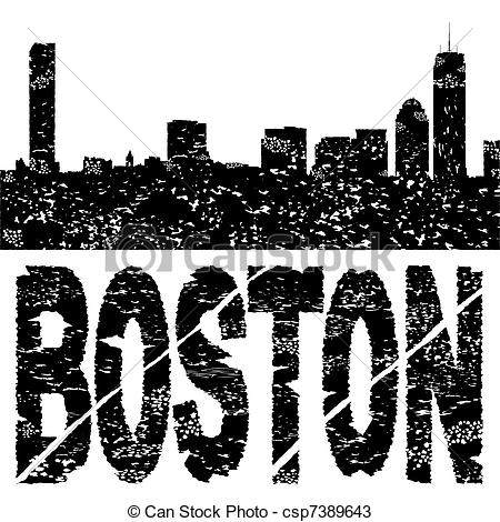 Boston clipart With Grunge text Grunge