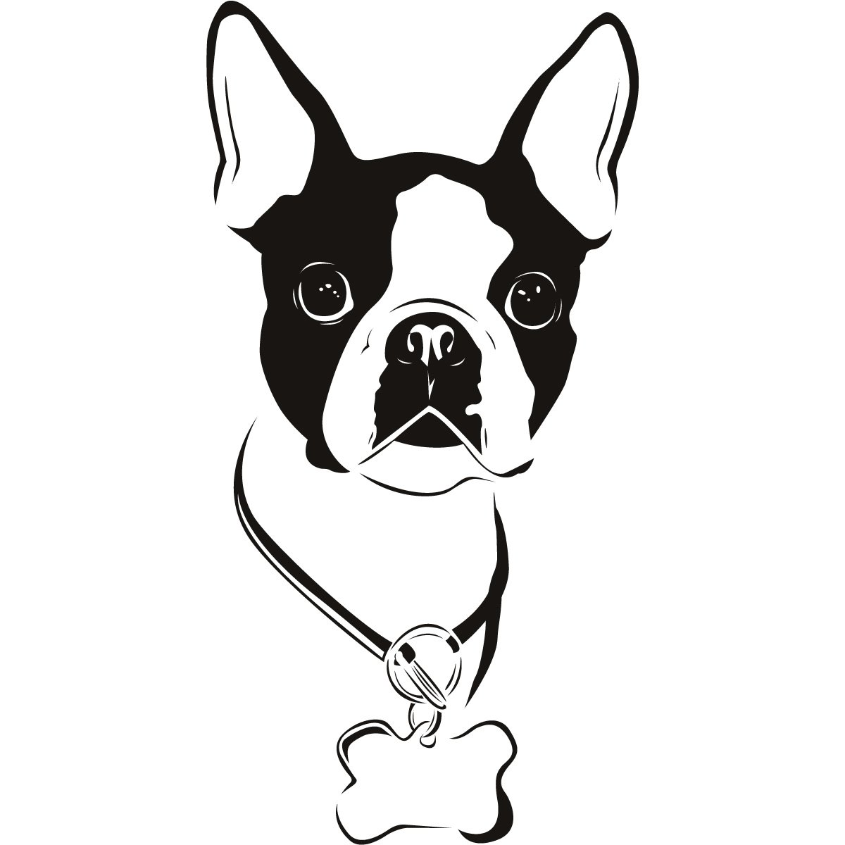 Boston Terrier clipart Free Boston Silhouette Clip Boston