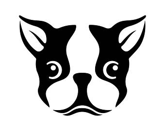 Boston Terrier clipart Vector Png Ai Art svg