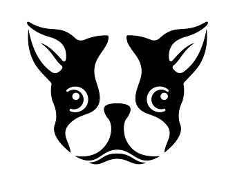 Boston Terrier clipart Vector Png Ai Art svg