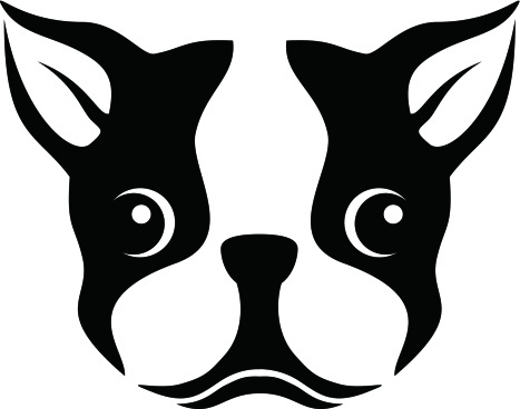 Boston Terrier clipart  Stencil stencil Boston Terrier