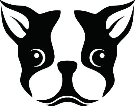 Boston Terrier clipart  Stencil stencil Boston Terrier