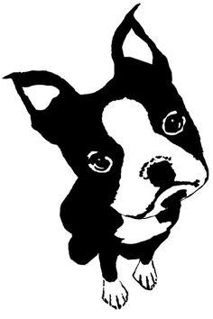 Boston Terrier clipart Clipart Cricut Boston Terrier Print