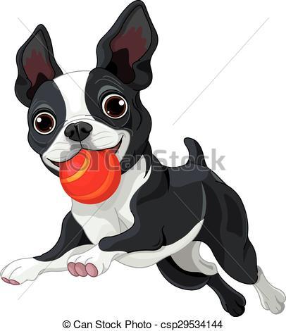 Boston Terrier clipart Illustration Boston Holds of Boston