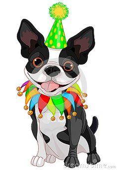 Boston Terrier clipart anime boston Stock Cartoons Stock Boston Free