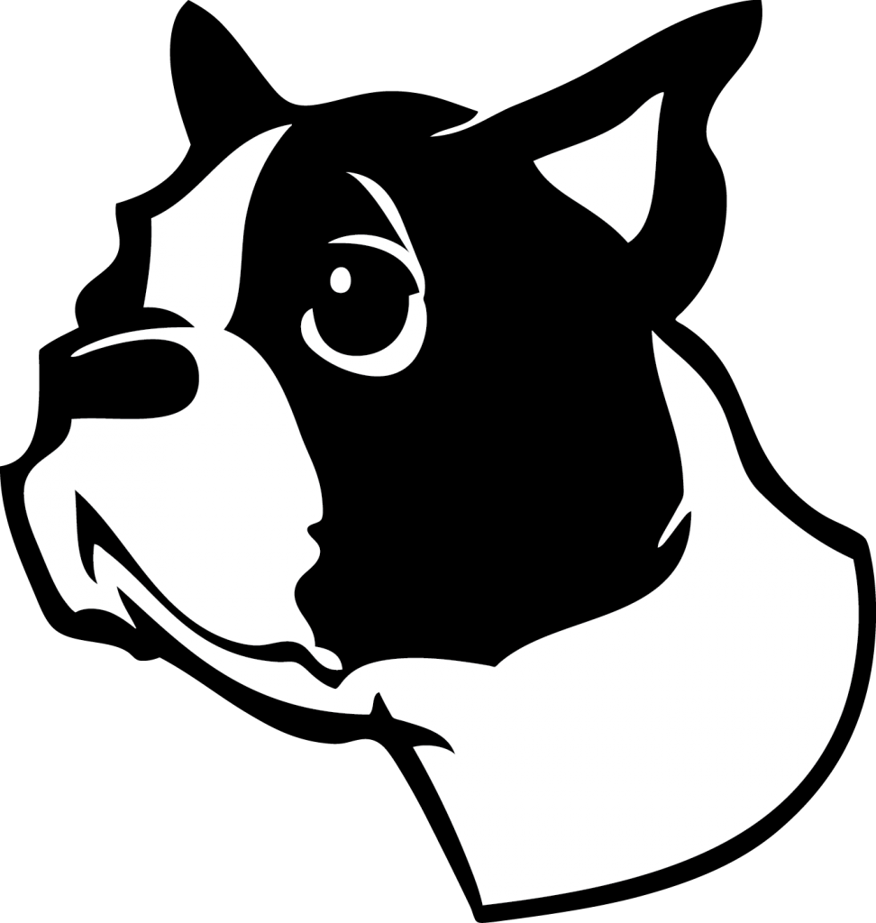 Boston Terrier clipart black and white VinylMaster Cut inverts image BOSTON
