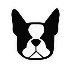 Boston Terrier clipart black and white Vinyl stickers in Boston drawing