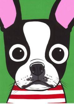 Boston Terrier clipart cute baby Folk Turddemon Terrier cartoon get