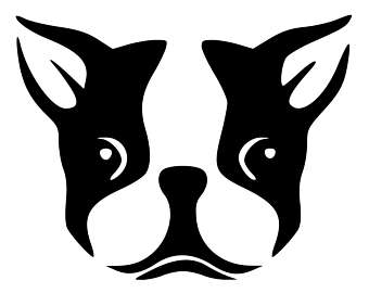 Boston Terrier clipart face Face Decal terrier Boston Laptop