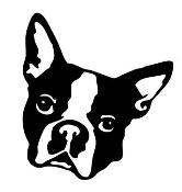 Boston Terrier clipart face Head Boston  Pinterest silhouette