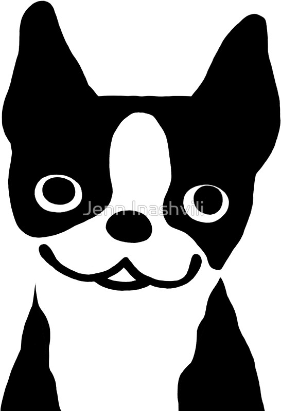 Boston Terrier clipart face Smiling Jenn Jenn by Stickers