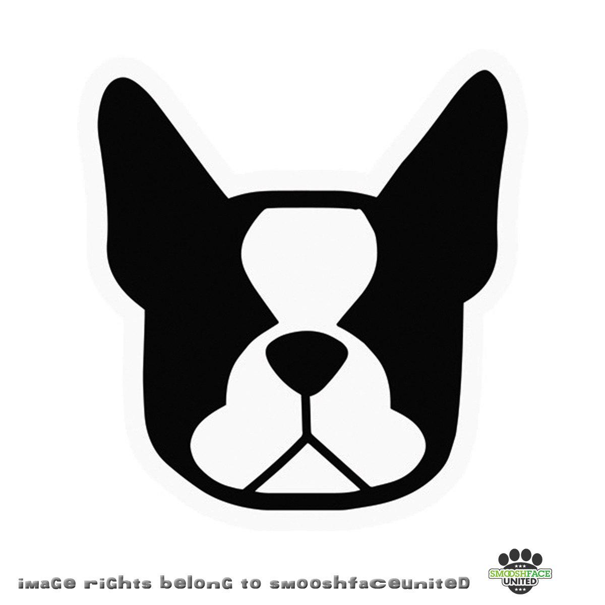 Boston Terrier clipart face Terrier vinyl  Boston decal
