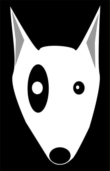 Boston Terrier clipart black and white · Bullterrier head download for
