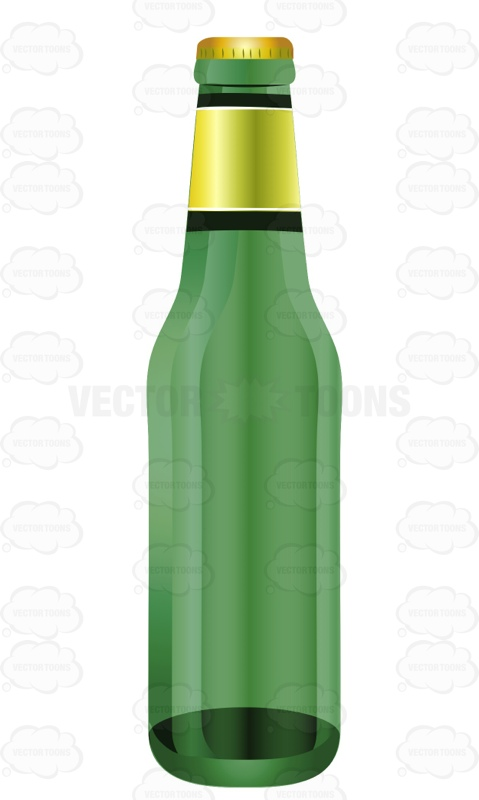 Bottle clipart green beer Bottle Clipart The Neck Gold