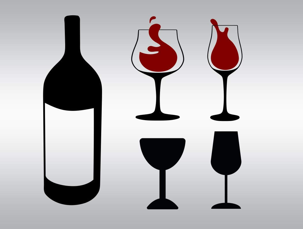 Bottle clipart silhouette Bottle digital file Svg Wine