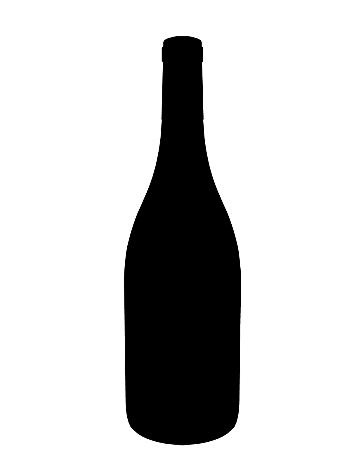 Bottle clipart silhouette – Art Wine Silhouette Silhouette