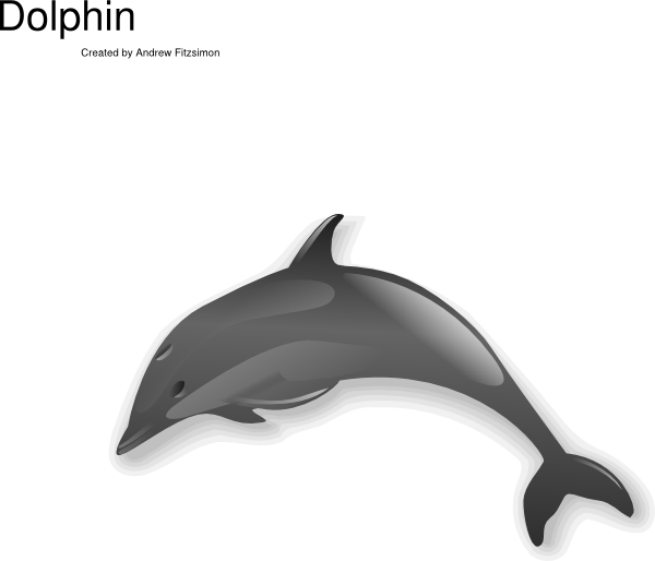 Bottlenose Dolphin clipart animation Jumping Download Clip  vector