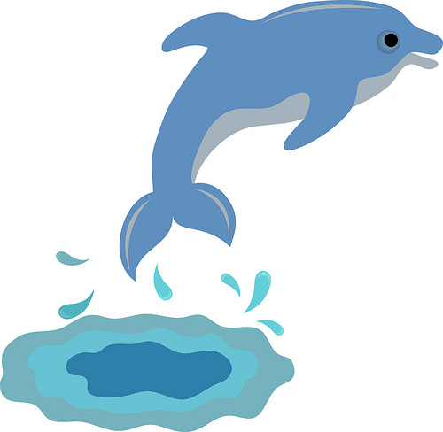 Bottlenose Dolphin clipart cute baby dolphin #5