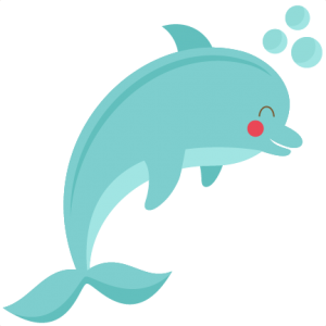 Bottlenose Dolphin clipart cute baby dolphin #13