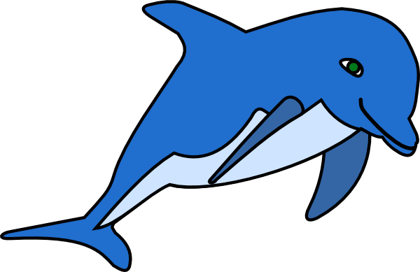 Bottlenose Dolphin clipart cute baby dolphin #6