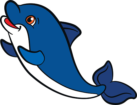 Bottlenose Dolphin clipart cute baby dolphin #8