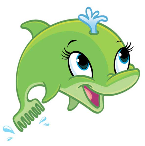 Bottlenose Dolphin clipart cute baby dolphin #12