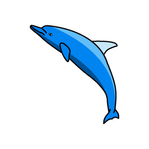 Bottlenose Dolphin clipart dolphin swimming Clip org Cute Cute Dolphin