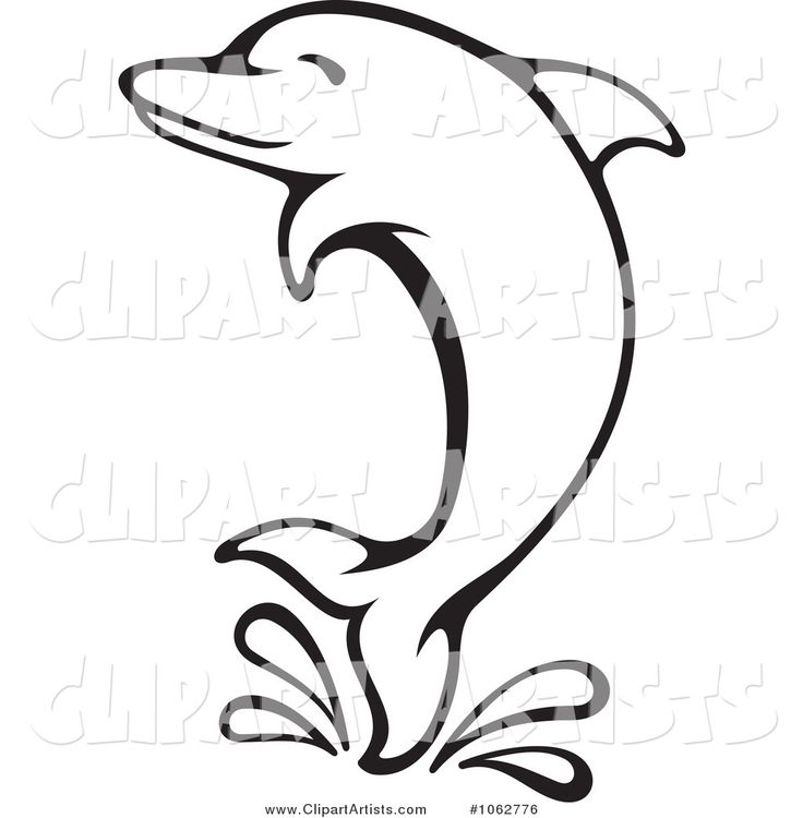 Bottlenose Dolphin clipart dolphin swimming And Clipart Art Vector by