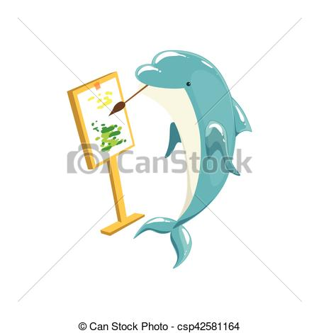 Bottlenose Dolphin clipart mammal Canvas Blue Clip Bottlenose