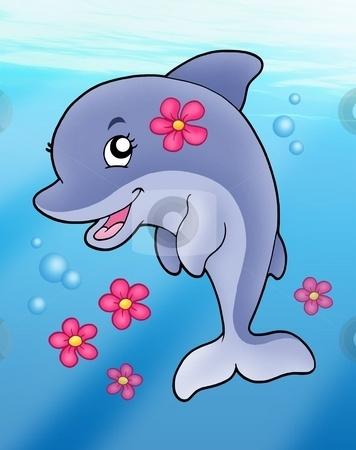 Bottlenose Dolphin clipart ocean animal · 105 Dazzling Dolphins DolphinsPaintingUnderwaterPuzzlesClip