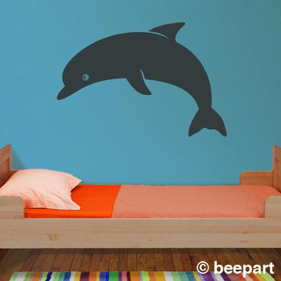 Bottlenose Dolphin clipart ocean animal Vinyl art art sticker child