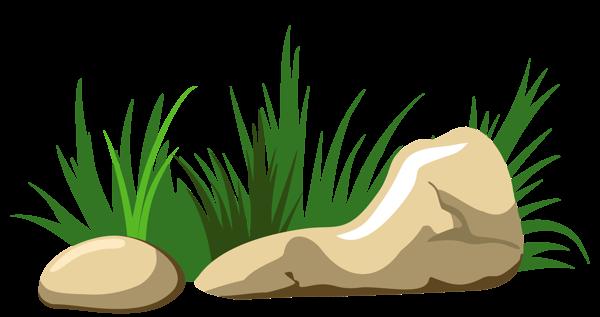 Rock clipart grass patch #2