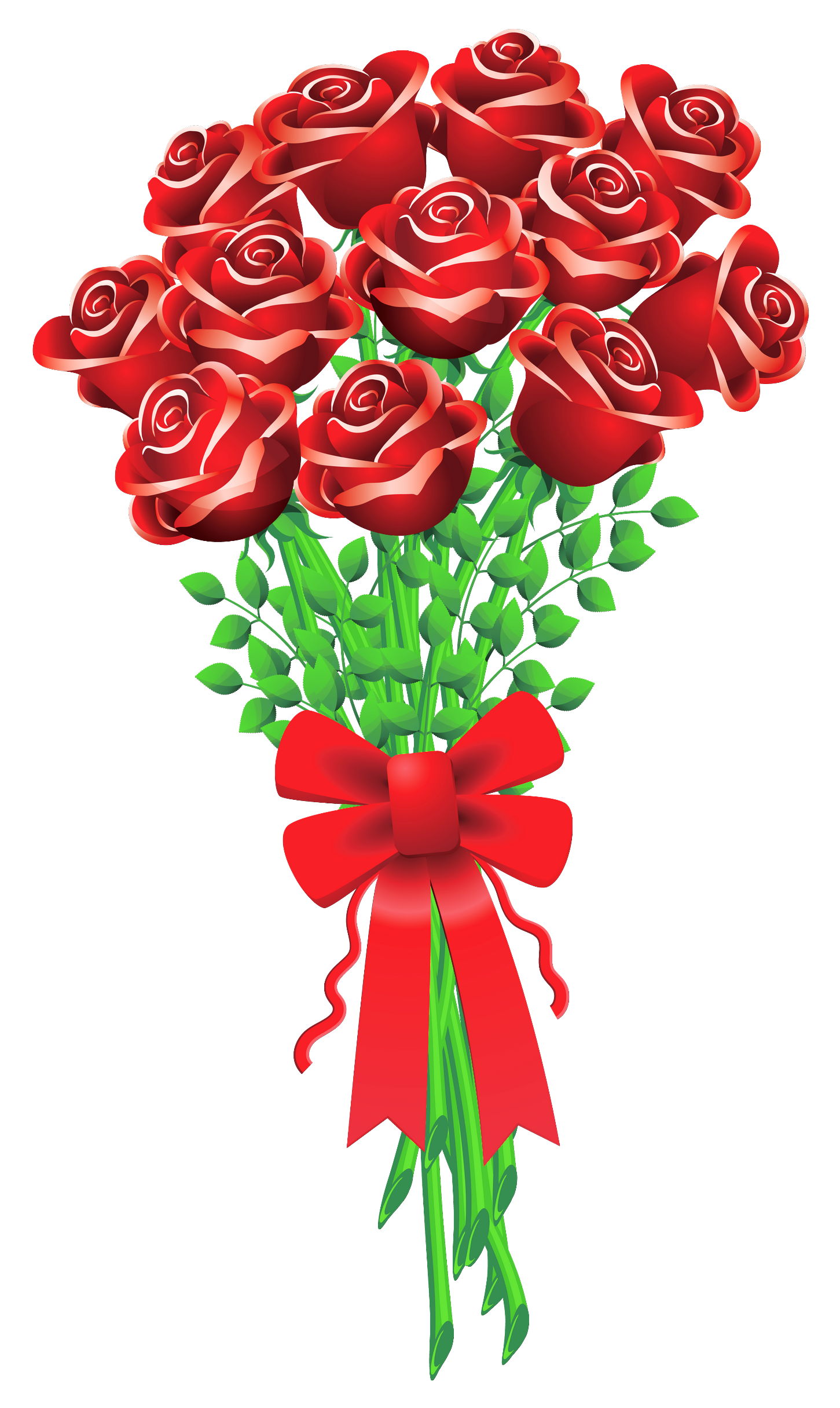 Red Flower clipart valentine rose #2