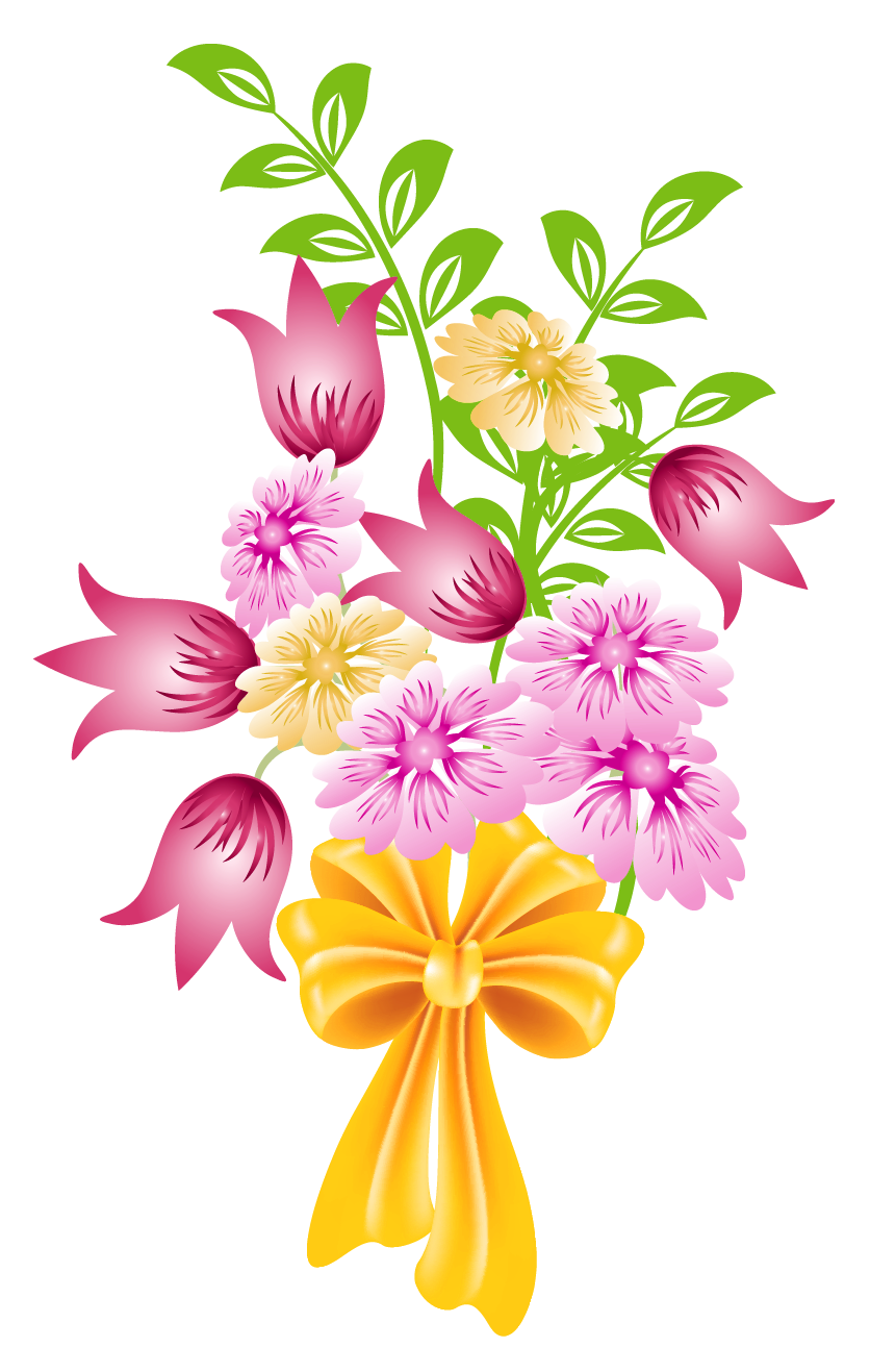 Floral clipart round flower frame Bouquet Clipart art Clipart Spring