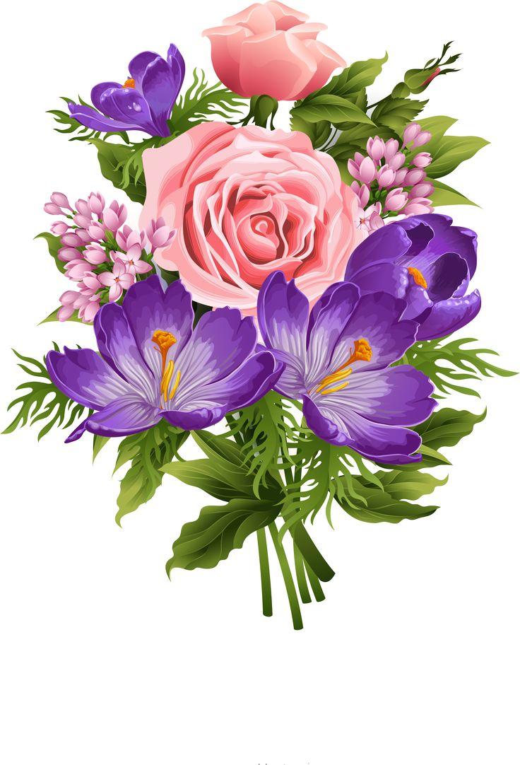 Bouquet clipart beautiful flower Images flores PicturesWhite Pinterest best