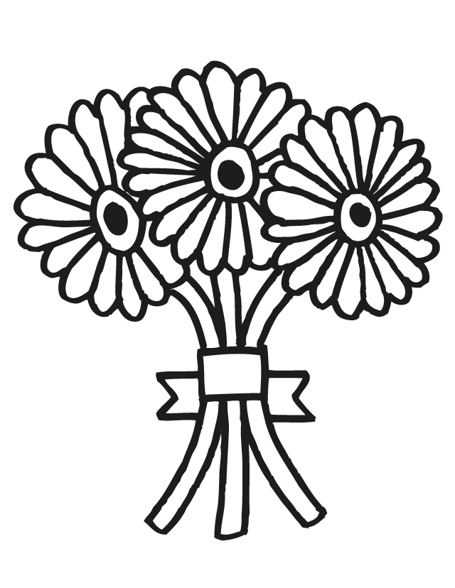 Drawn bouquet wedding bouquet Free Colouring Of Clip Clip