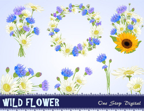 Chamomile clipart flower bunch Card Invitations  Flower 0113