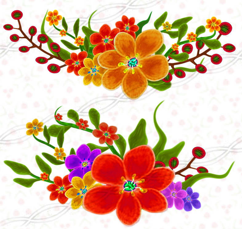 Bouquet clipart flower vector Clipart vector embellishments set
