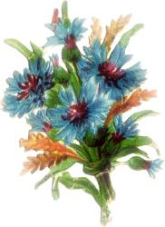 Blue Flower clipart flowery Free bouquet Clipart floral Floral